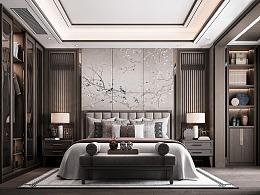 新中式家装卧室