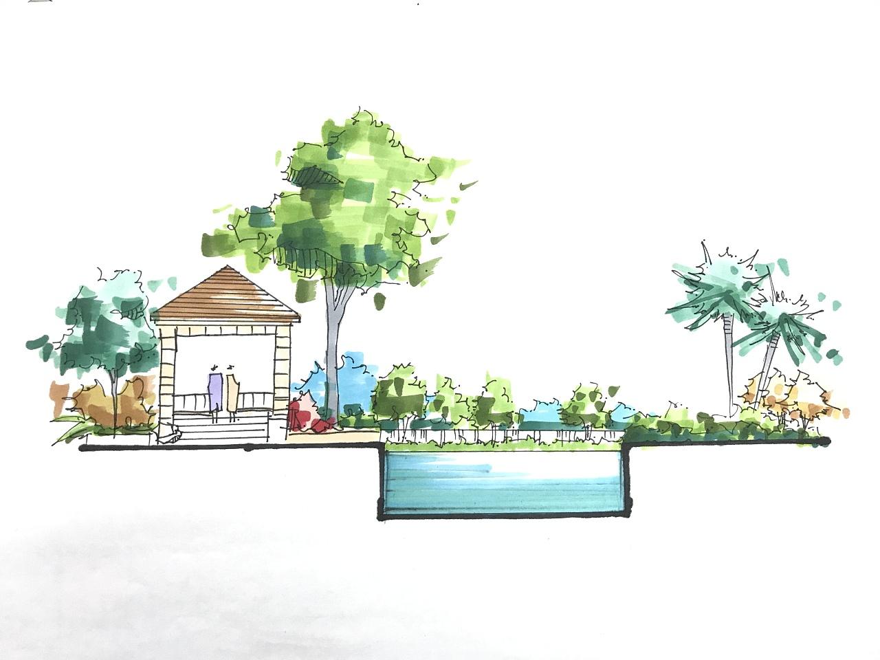 效果图手绘整理|空间|景观设计|teperbebe - 原创作品