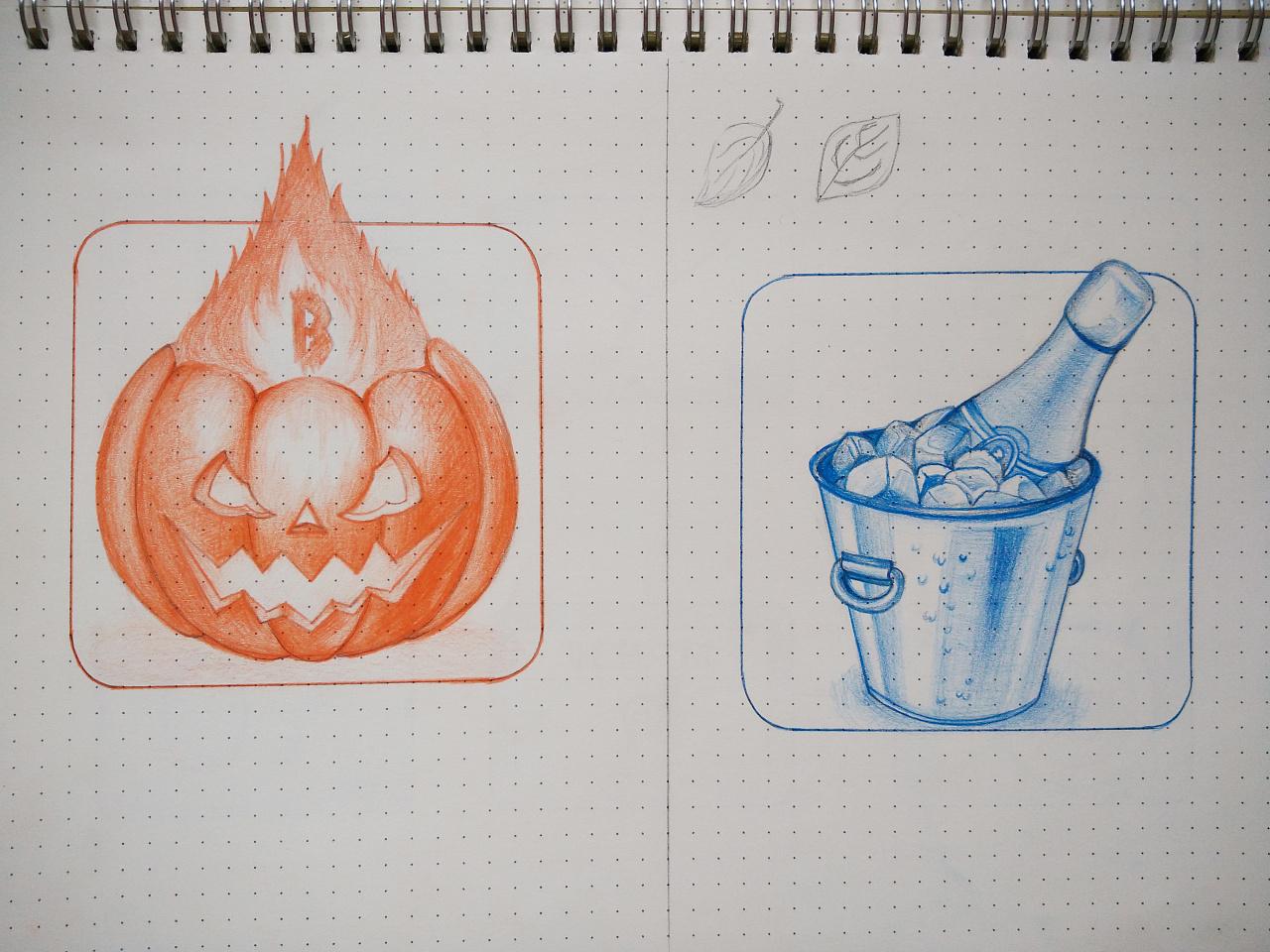 彩铅笔手绘临摹图标-01