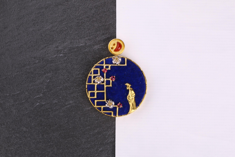 蚂蚁创意珠宝工作室《静夜思》图片