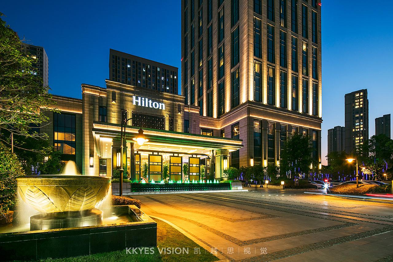 希尔顿酒店 hilton 景观拍摄 客房 五星级 建筑摄
