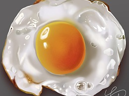 画了个写实的蛋