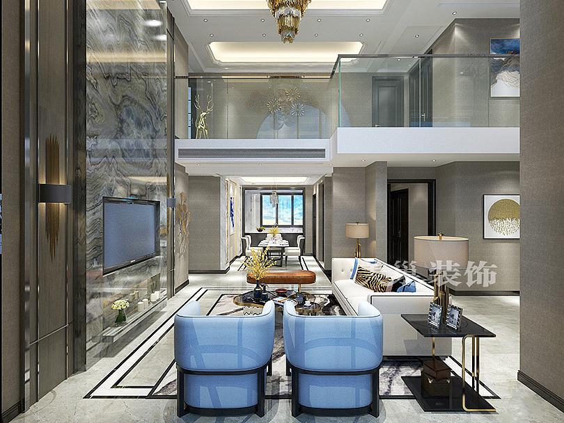 蓝城玫瑰园280平现代简约米面,轻奢风格的别墅装修宽好高贵8吗联排别墅住图片