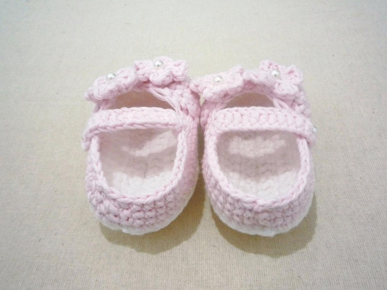 钩针公主宝宝鞋