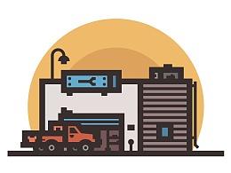 Illustrator中创建一个Auto Repair Shop插图