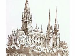 风景速写  墨尔本圣公会教堂