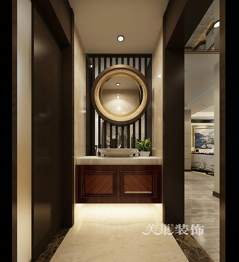 永威迎宾府130平三室两厅新中式风格装修效果图--卫生间