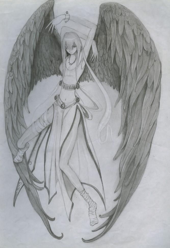 原创作品:黑翼天使