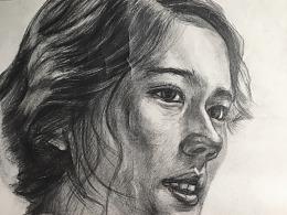 人物侧脸素描练习