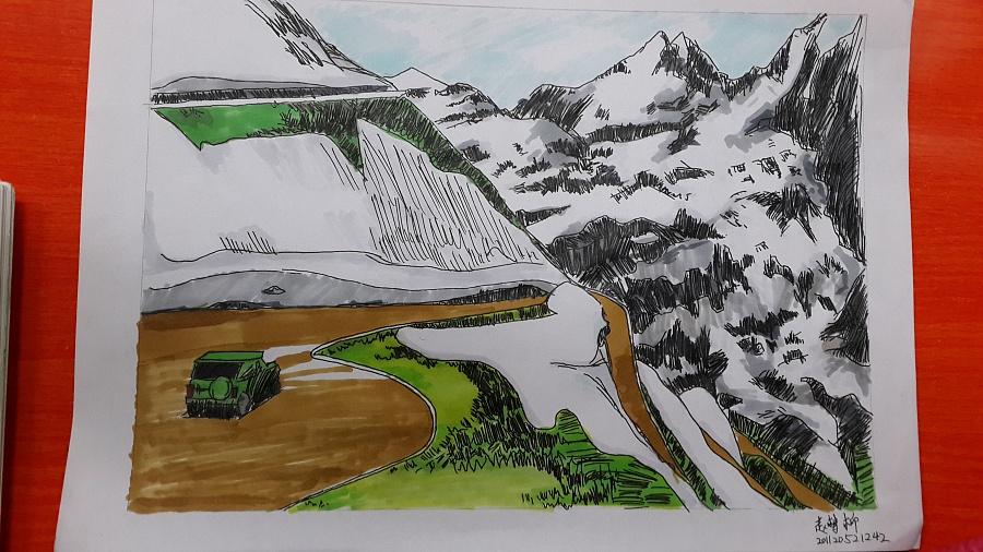 马克笔景观手绘练习