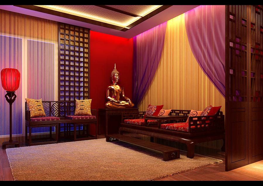 一张中式室内效果图|建筑设计|空间|mr_z玩皮的周先生