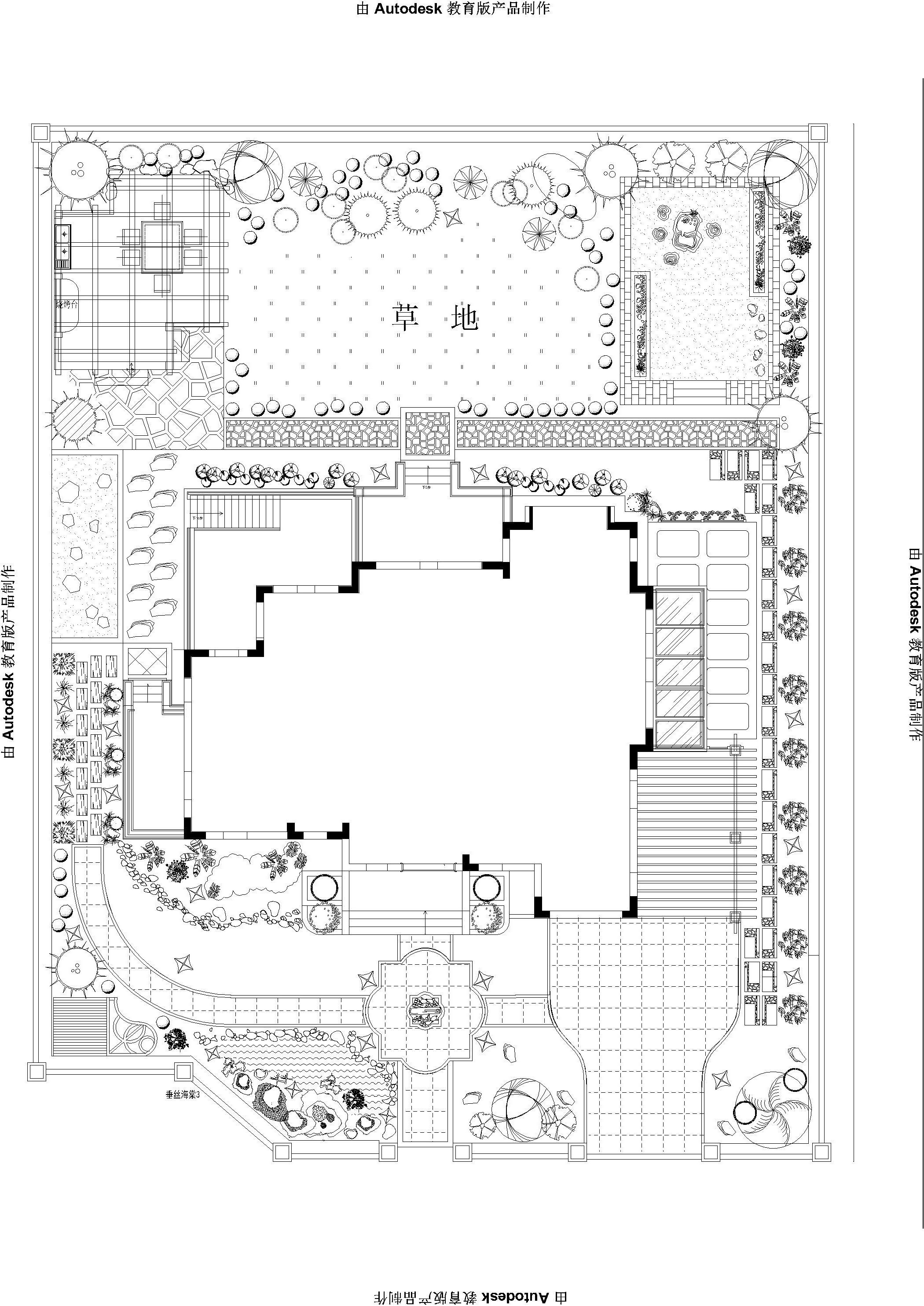 庭院设计cad图 空间 室内设计 hoipunchui - 原创作品