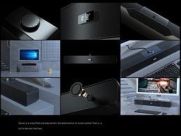C4D+OC音响产品视频
