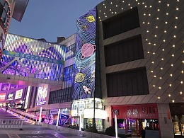 铭星灯光厂家专注商场户外led灯光幕墙外立面墙体灯画