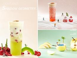 成都美食拍摄奶茶饮品拍摄创意产品摆拍摄影水果梨拍摄