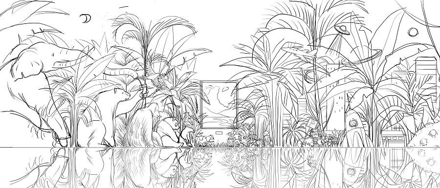 查看《与万物共生,有机会更好。 #伊利金典#包装海报插画》原图,原图尺寸:4000x1714