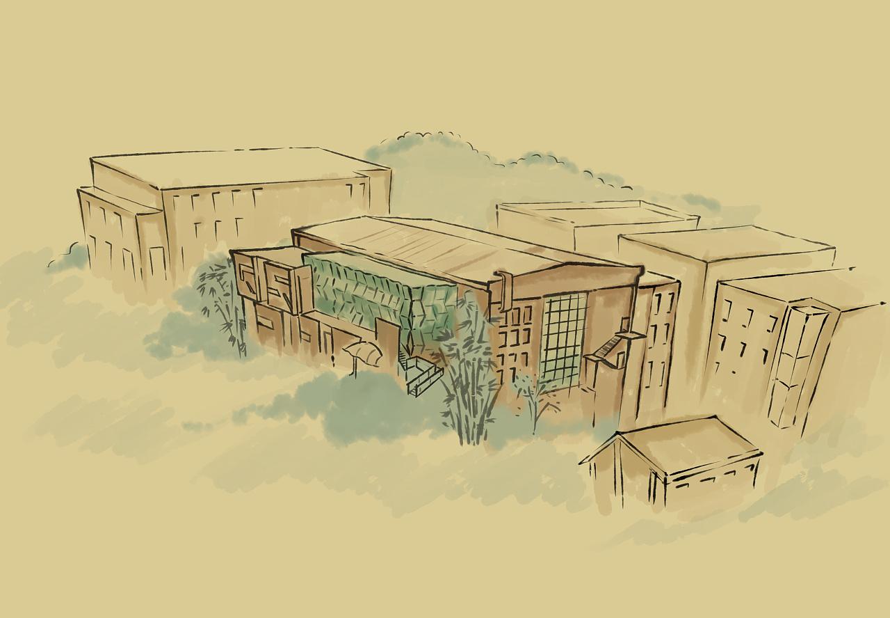 鼓楼文化产业园手绘地图 插画 商业插画 水树悠哉