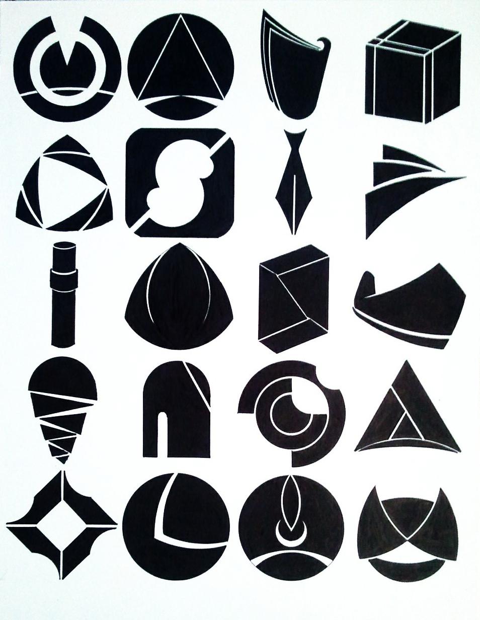 标志基础之图形创意练习图片