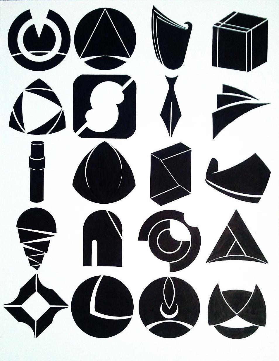 标志基础之图形创意练习 平面 标志 巫罄 - 原创作品