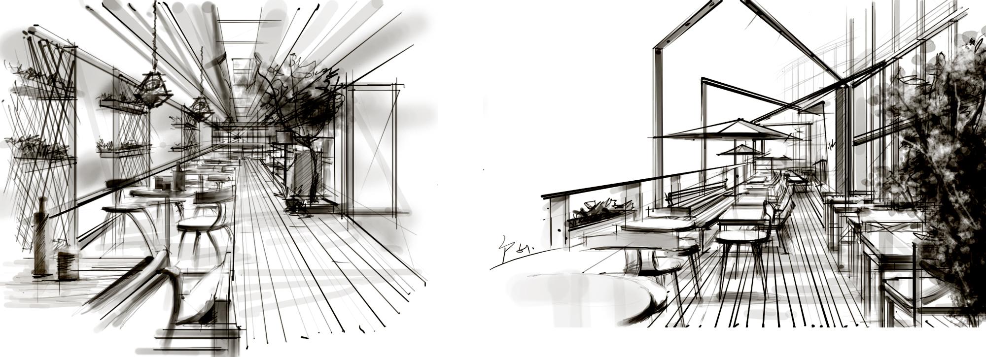 loft效果图手绘