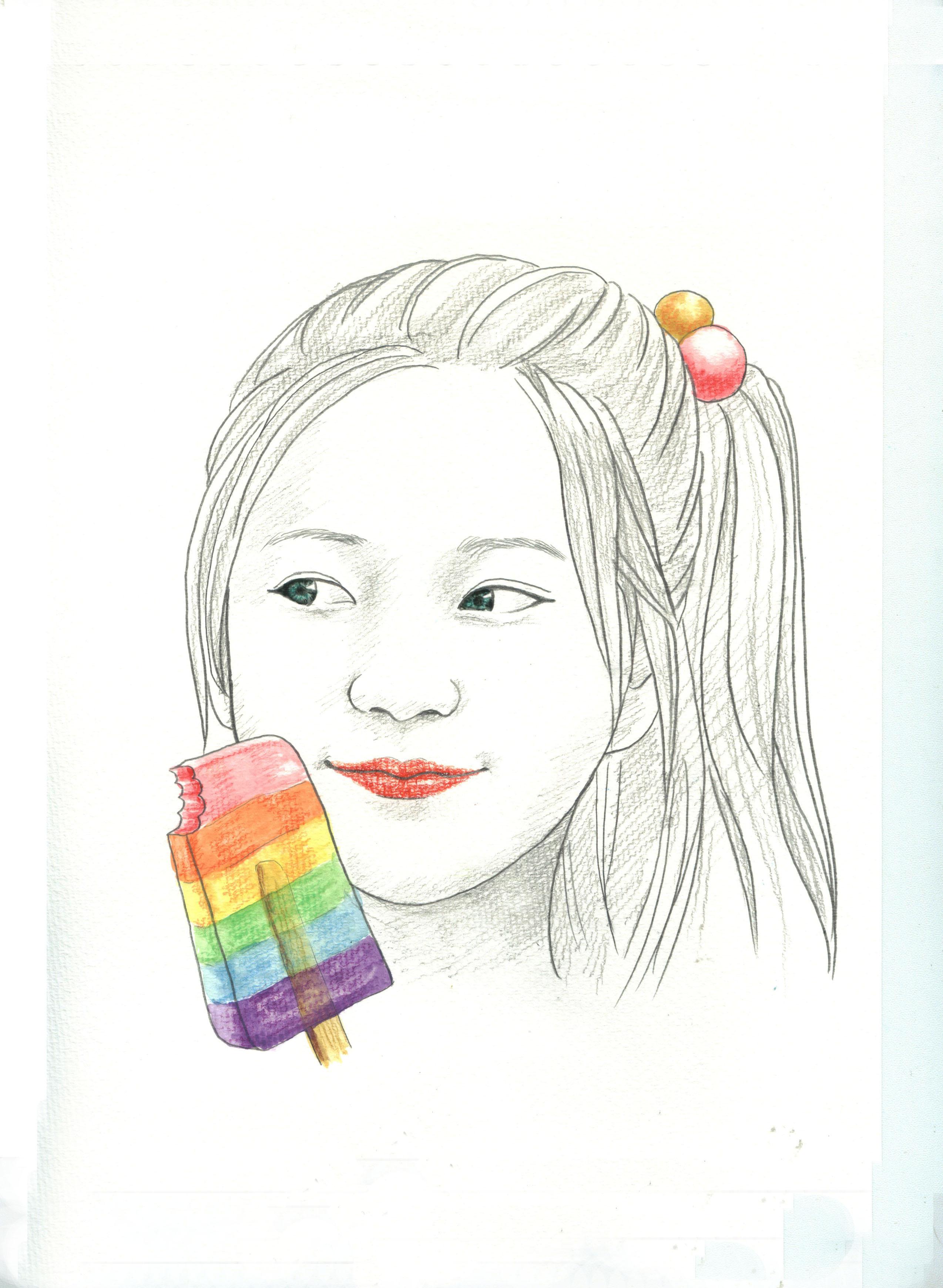 手绘人物插画