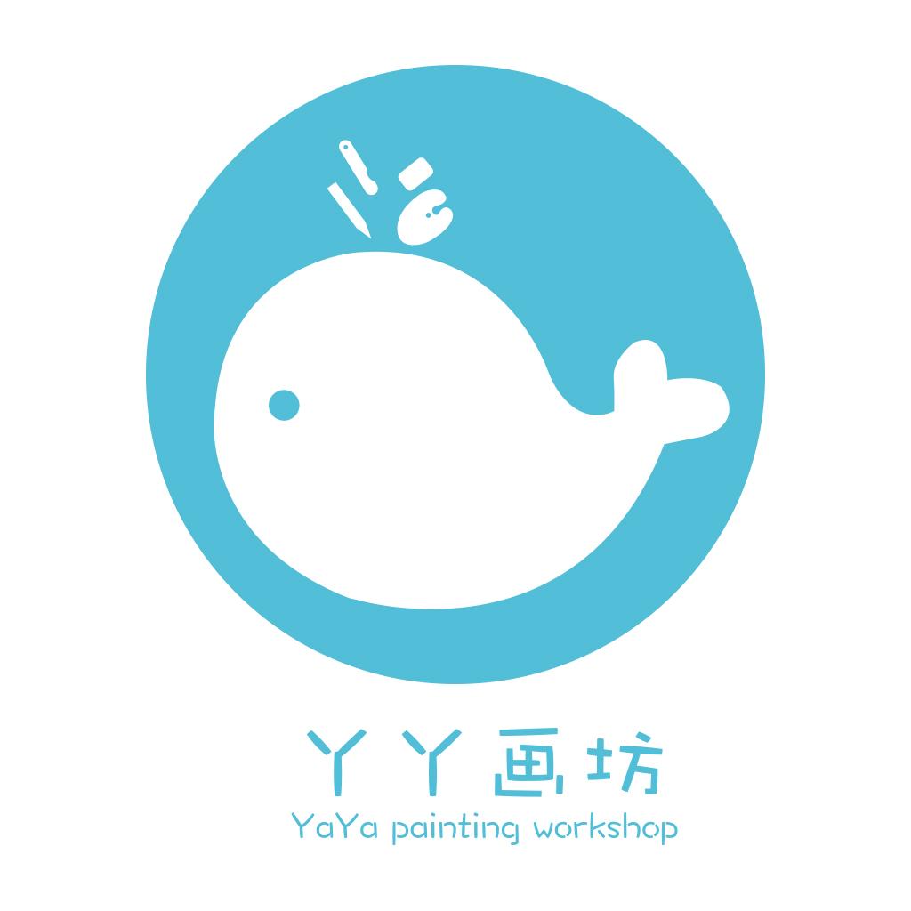 简易的儿童画室logo图片