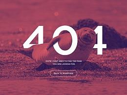网站练习 - 一组 登录页 404报错页