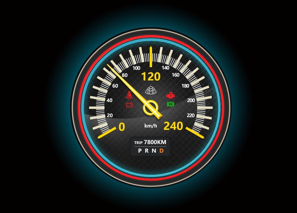 汽车仪表盘练习
