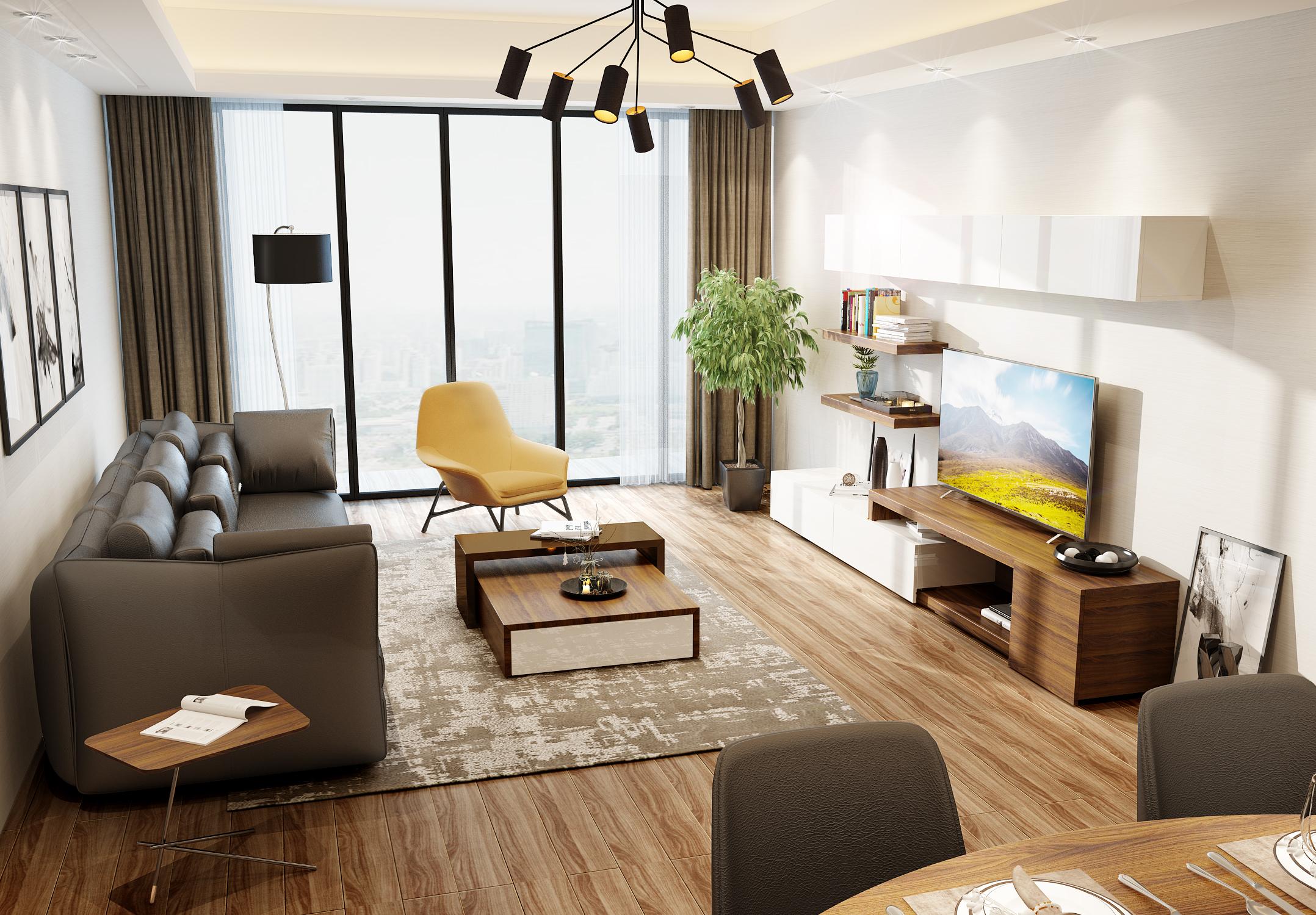 胡桃木系列 电视柜 茶几   瑞博沙发图片