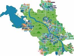 松原城市区域矢量地图