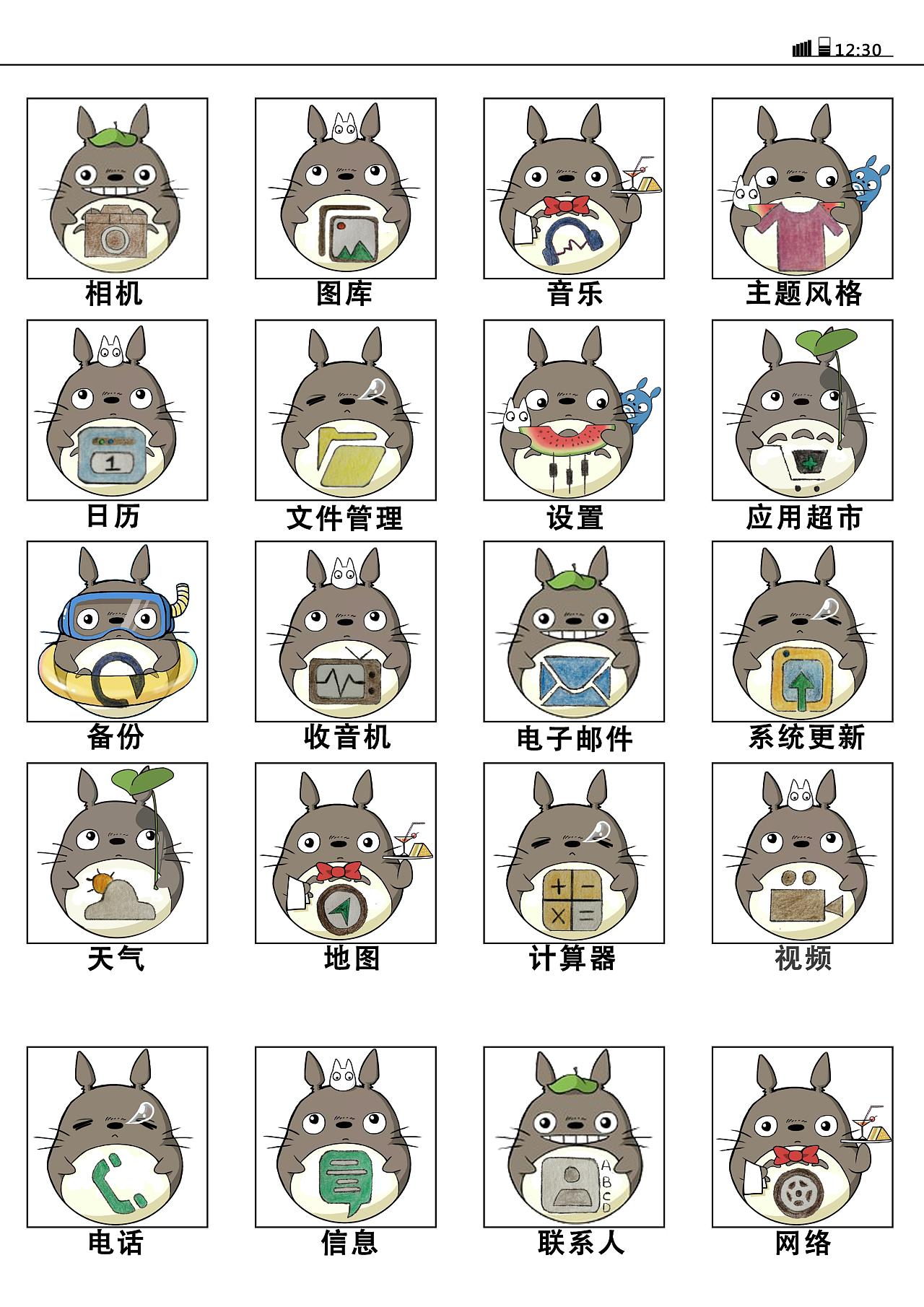 龙猫手机主题图标