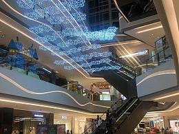 商场中庭吊饰 专业定制工厂 铭星厂家 专注LED雪花吊饰