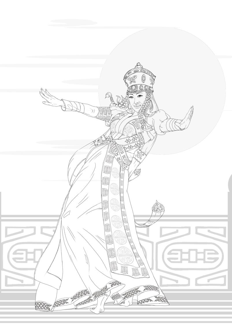 手绘舞者简笔画