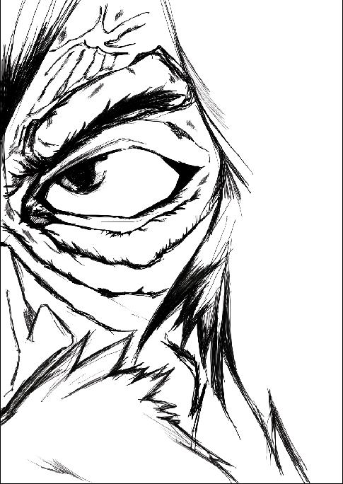 半脸人物手绘练习
