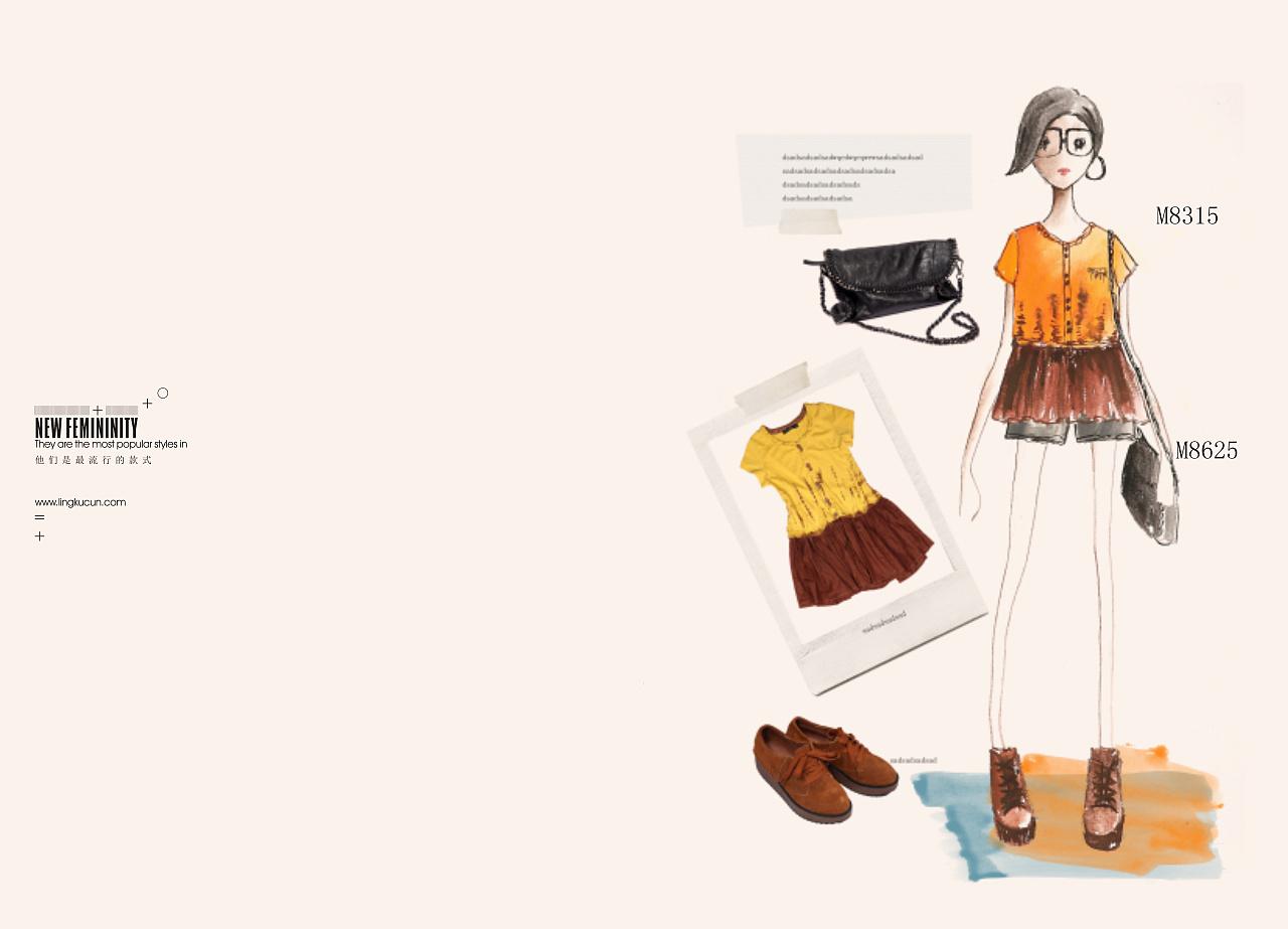 手绘服装画册