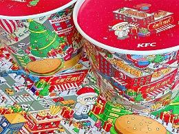 肯德基圣诞桶插图