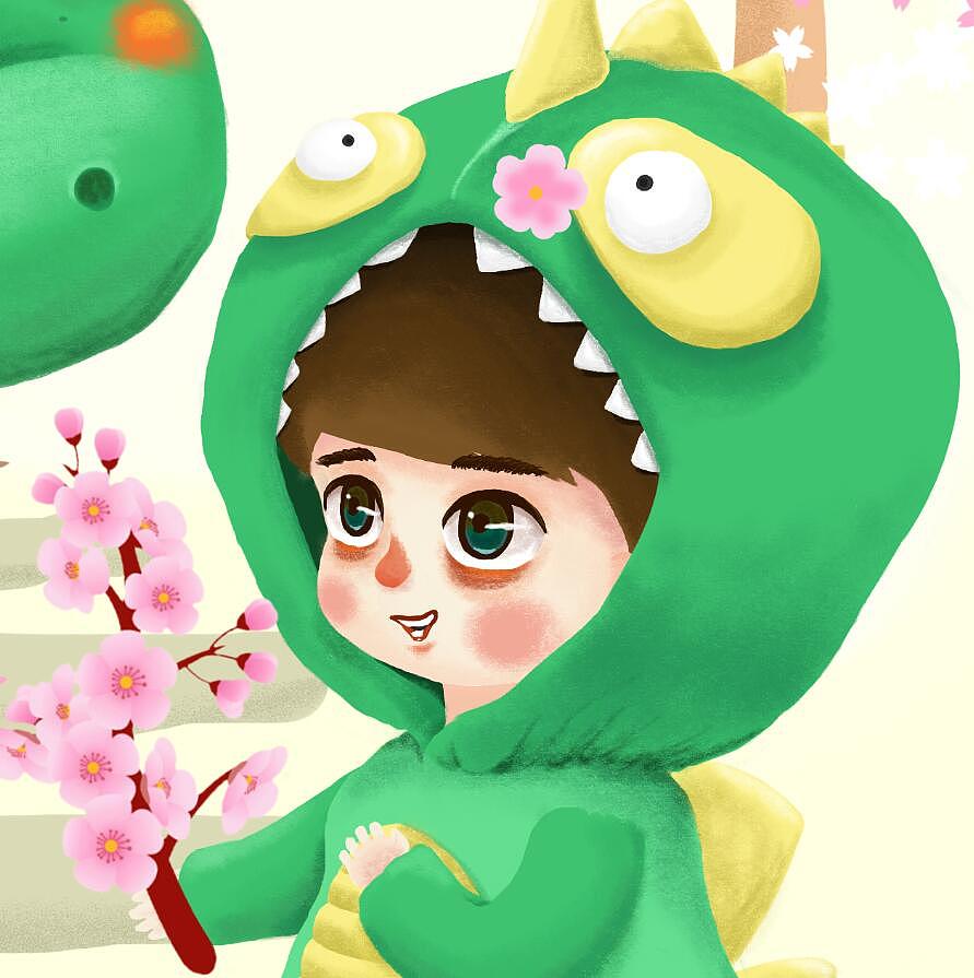 【手绘】2017上海顾村公园樱花节插画|插画|儿童插画