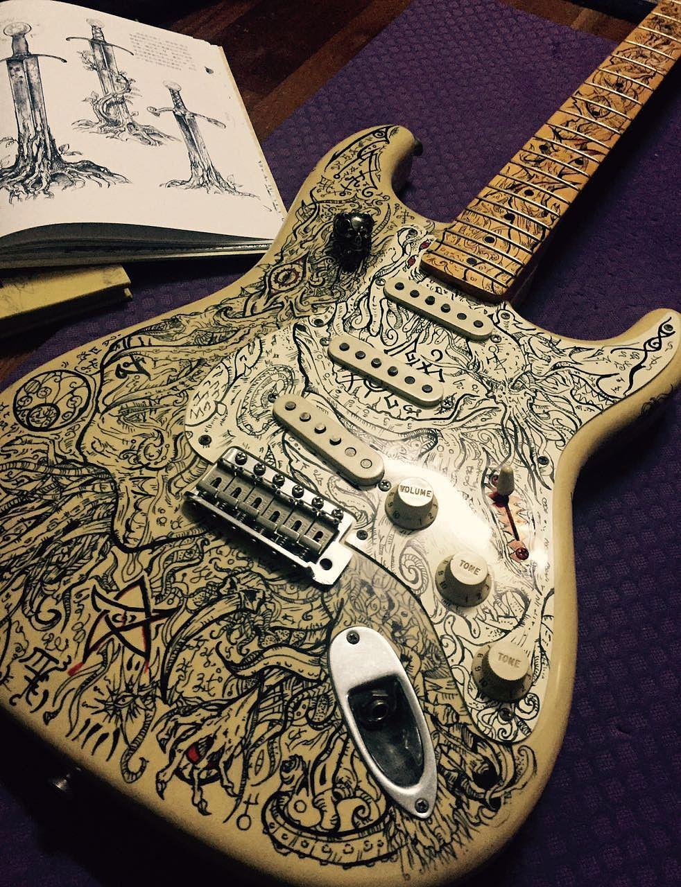 克苏鲁之歌-电吉他手绘