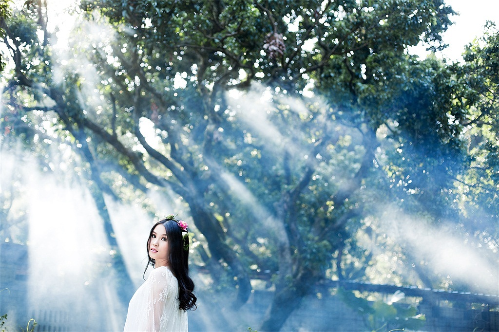 森林系小清新婚纱照