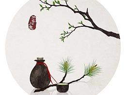 【古诗配图】山中何事?松花酿酒,春水煎茶。