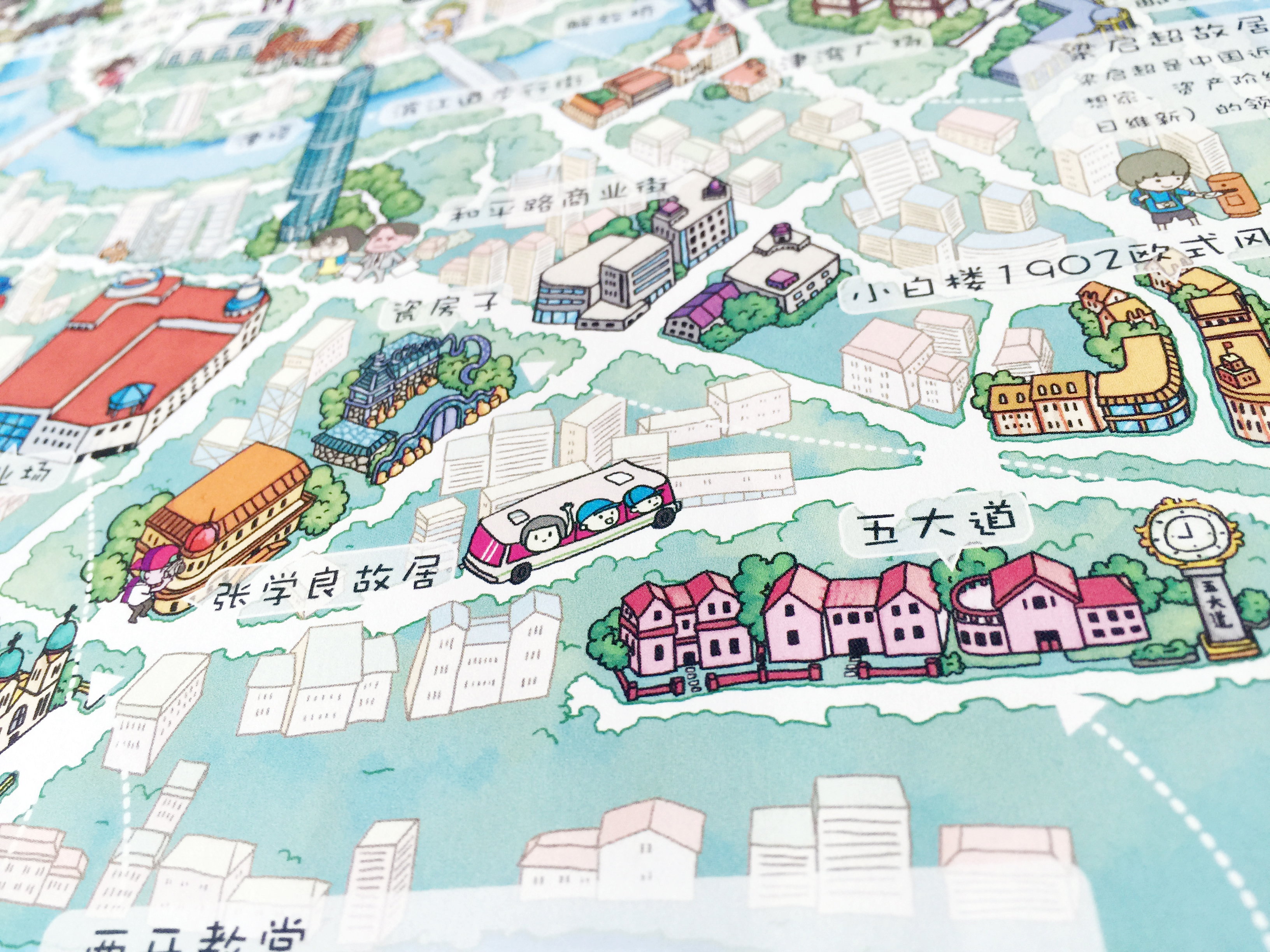 天津手绘地图