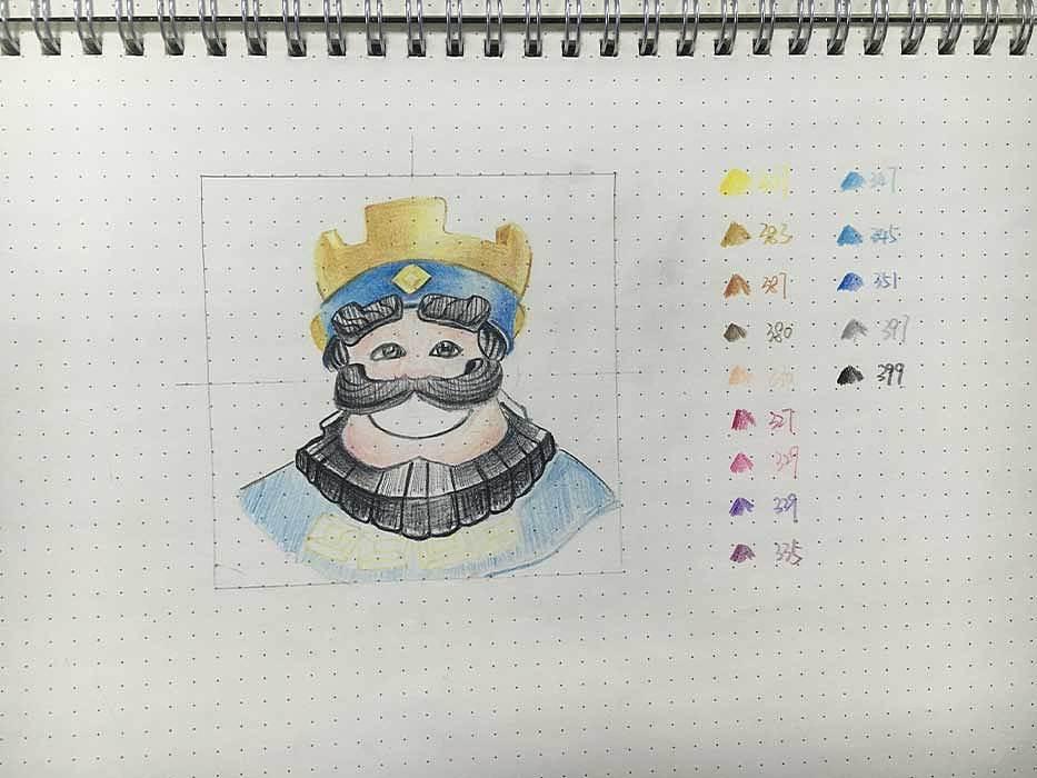 手绘图标-国王