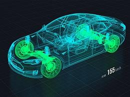 智能汽车可视化展示FUI