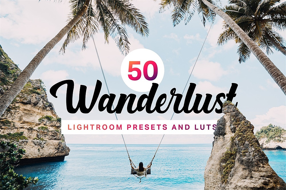 【P187】旅拍电影胶片LR预设+3D LUT预设 sparklestock 50 Wanderlust Lightroom Presets and LUTs