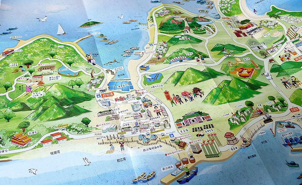 南澳手绘地图