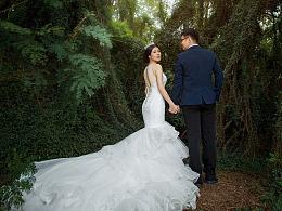 原创作品:婚纱客照:旧师大的婚纱客照
