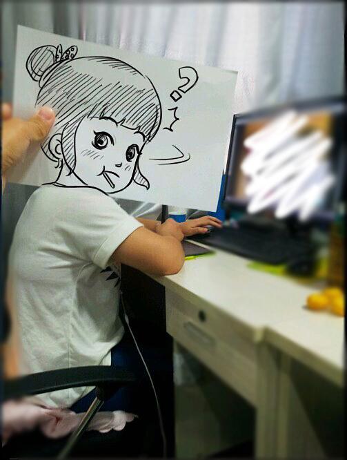 手绘q板 动漫 肖像漫画 789wang - 原创作品 - 站酷