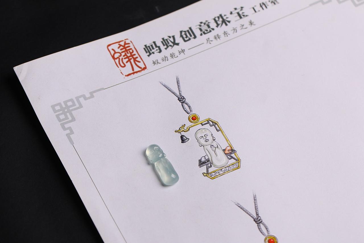 蚂蚁创意珠宝工作室 高端个人定制产品《小沙弥》图片