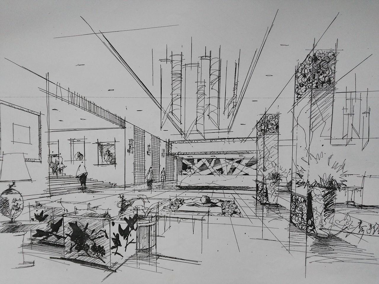 手绘|空间|建筑设计|lady_jia - 原创作品 - 站酷