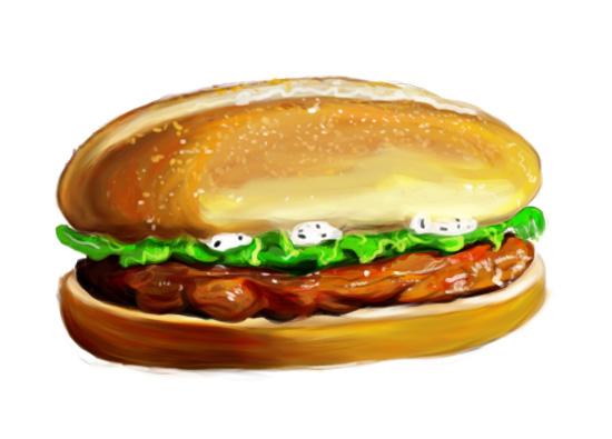 手绘汉堡包